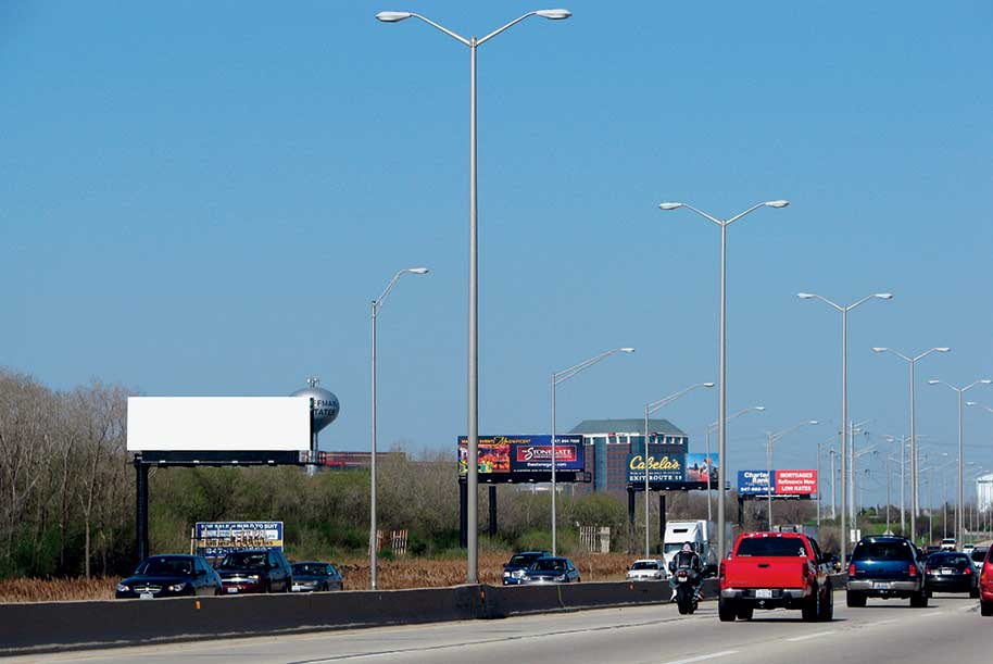 Billboard at South side of I-90 (Northwest Tollroad) East of Barrington Rd.