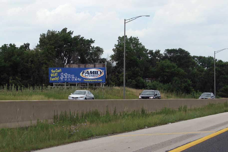 Billboard at East side of I-57 North of 175th St.