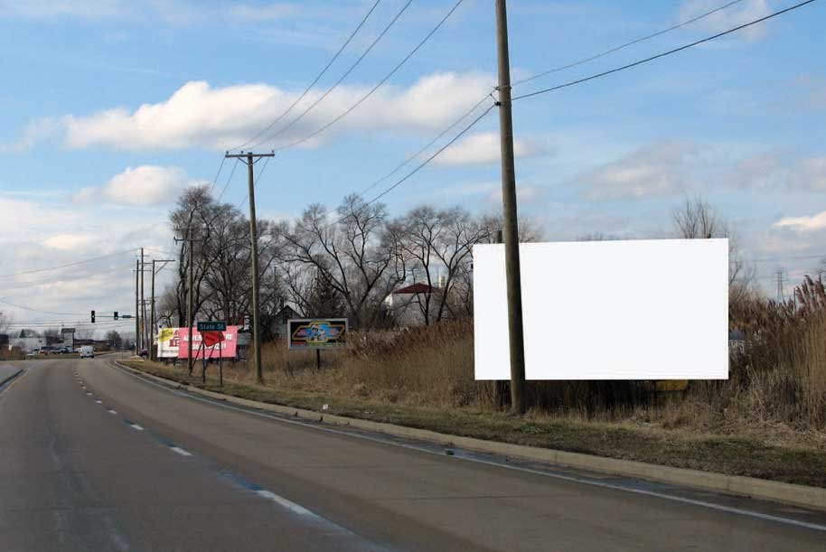 Billboard at North side of Sauk Trail East of State St.