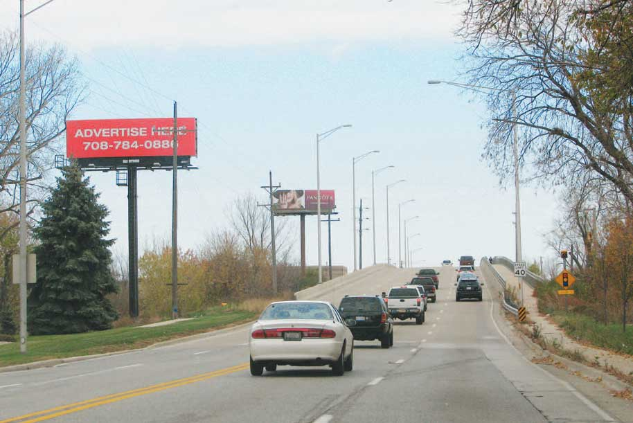 billboard at West side of Southwest Highway 1/2 mile north of Harlem Avenue