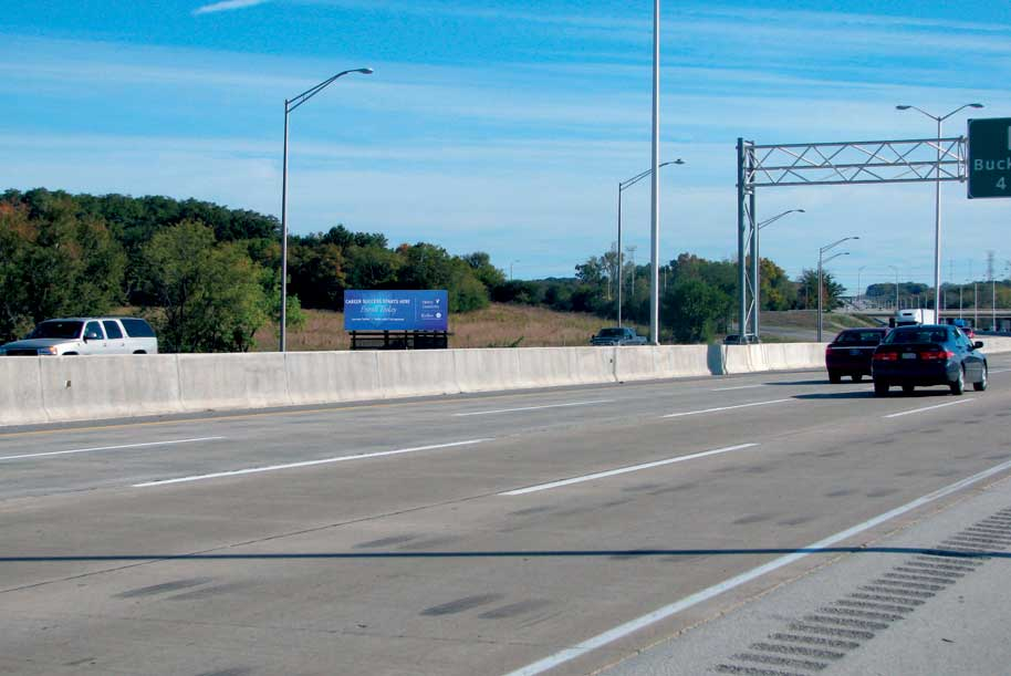 Billboard at I-294 (Tri-State Tollway) South of Grand Ave. (Rt.132)