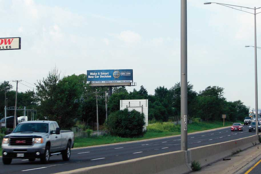 Billboard at South side of I-55 One mile South of Route 53
