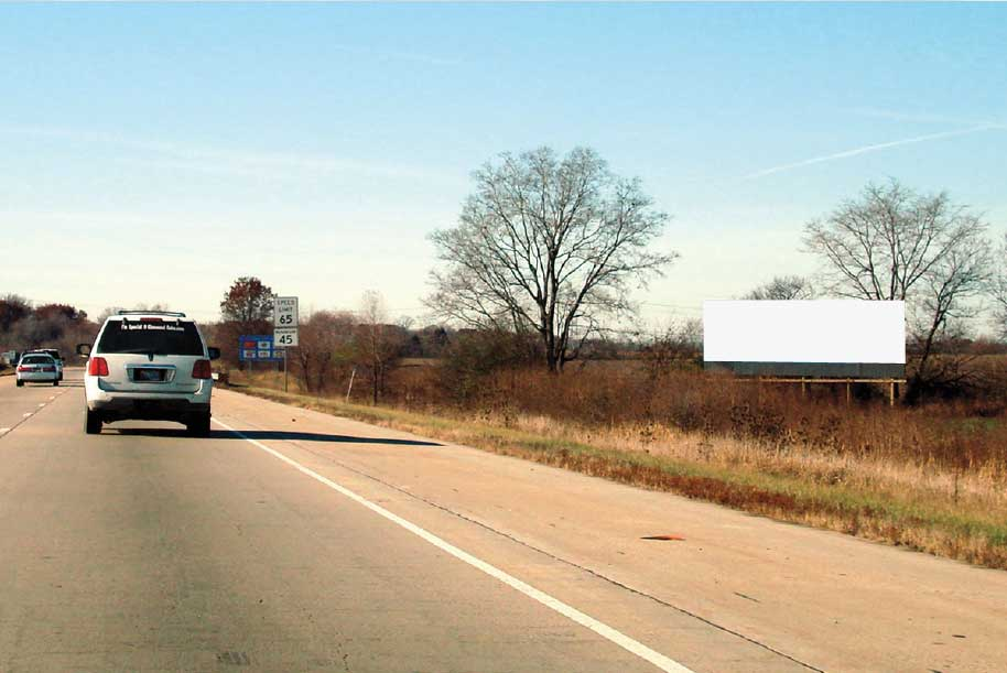 Billboard at North side of I-80 West of Maple Rd.